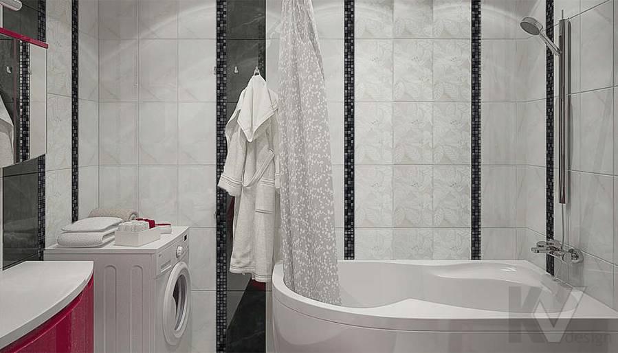 Дизайн ванной в 2-комнатной квартире - 3