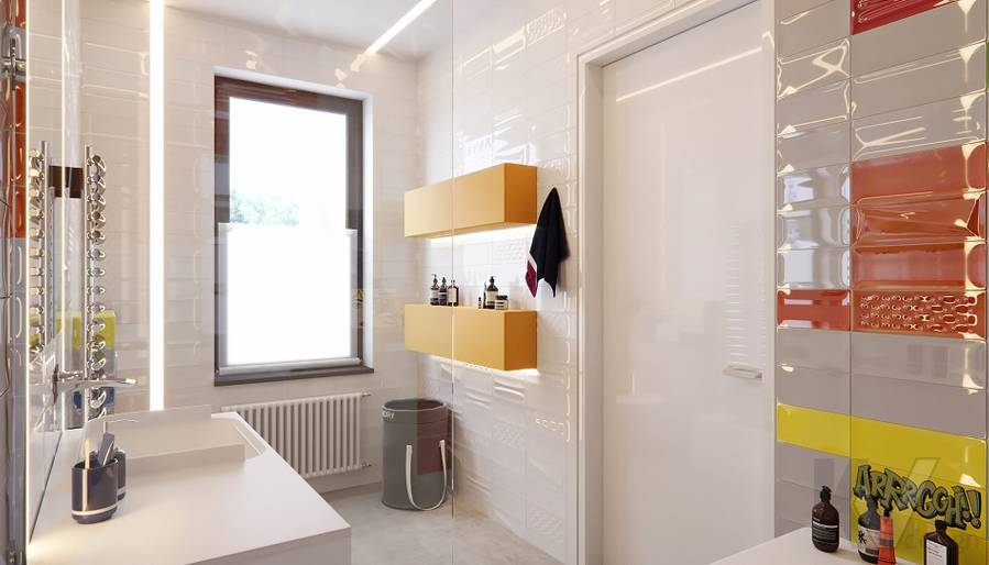 Детская ванная комната в доме в поселке Павлово - 2