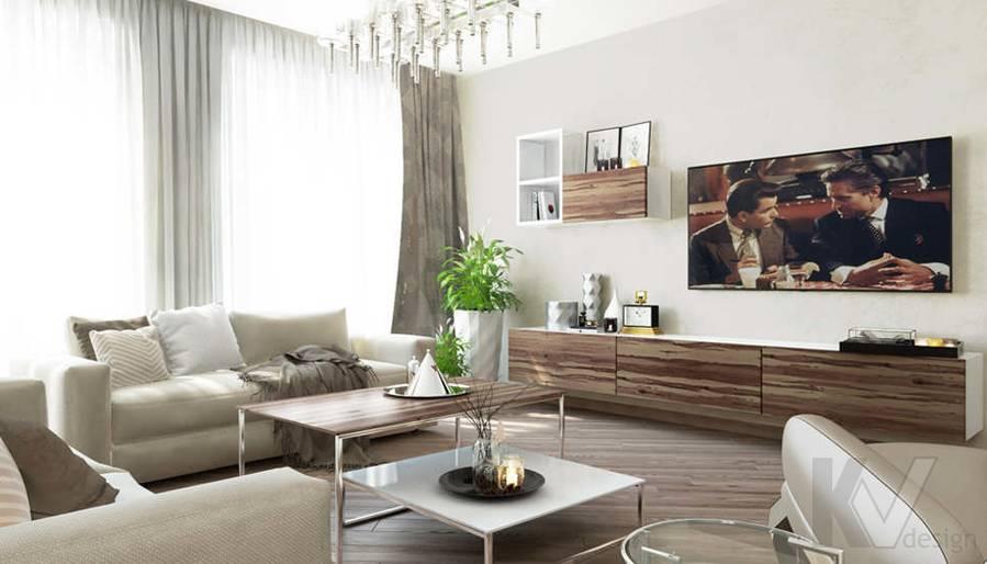 дизайн гостиной в 3-комнатной сталинке, Старый Арбат - 2