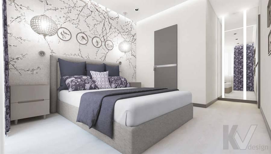 Дизайн спальни в 3-комнатной квартире П-3М, Новое Ясенево - 2