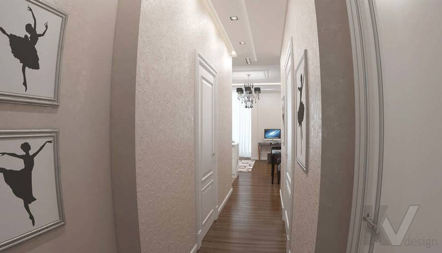 дизайн коридора в 3-комнатной квартире в ЖК Лосиный Остров - 2