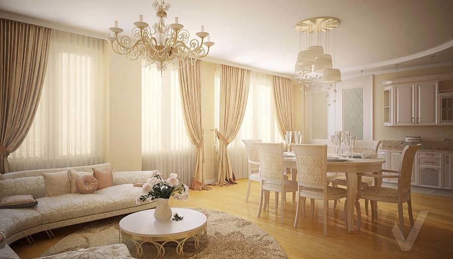 Дизайн квартиры на м. Смоленская, гостиная - 2