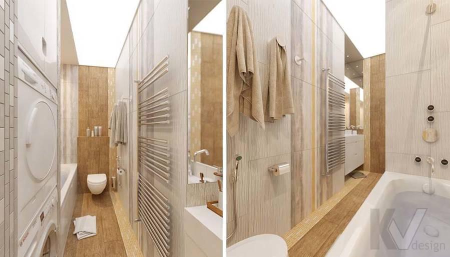 дизайн ванной в квартире на Мосфильмовской - 2