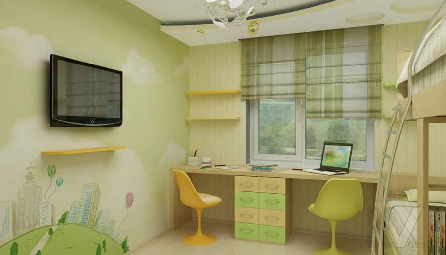 Дизайн детской комнаты в двухкомнатной квартире -2