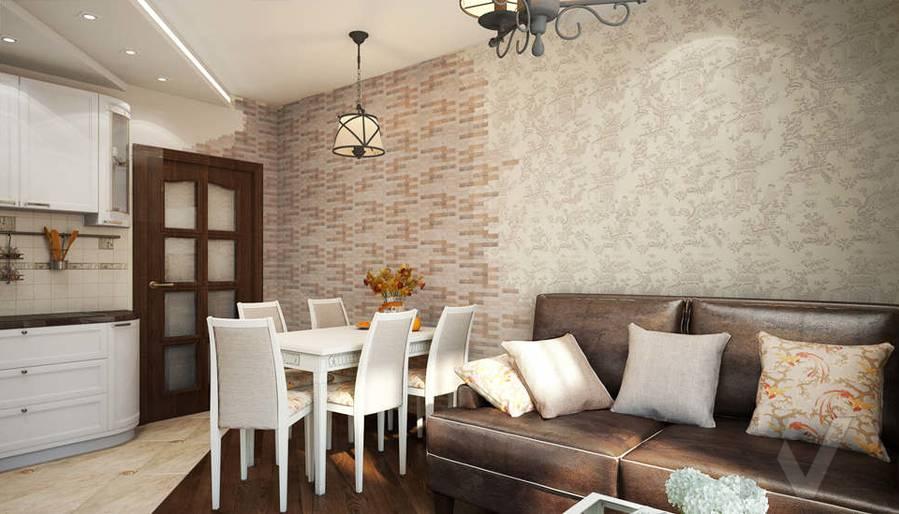 дизайн гостиной-кухни, Одинцово - 3