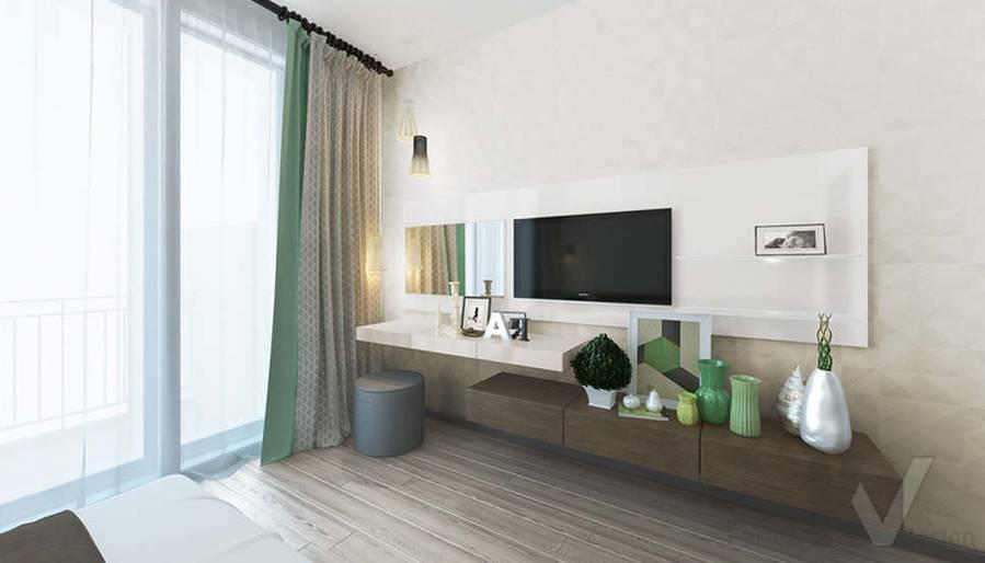дизайн спальни в 3-комнатной квартире, Троицк - 3