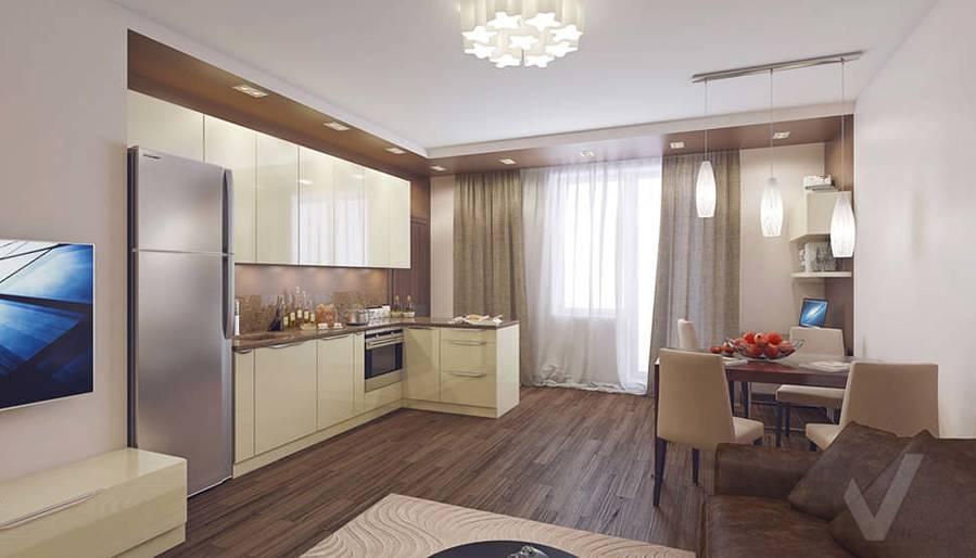 Дизайн гостиной в 2-комнатной квартире, Реутов - 1
