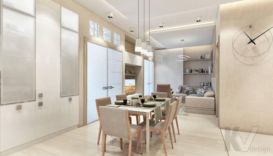 Дизайн гостиной в квартире, ЖК Авеню-77 - 4