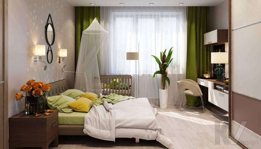 дизайн спальни в 3-комнатной квартире, Митино - 1