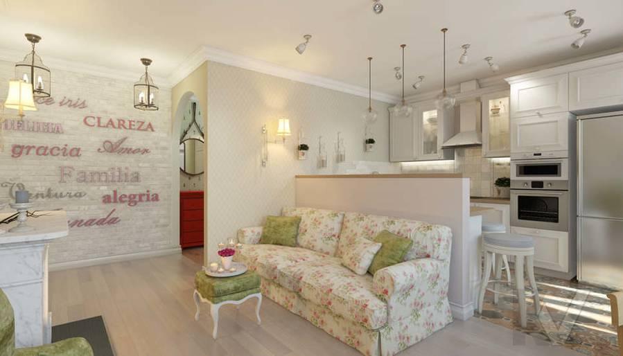 дизайн кухни-гостиной в 3-комнатной квартире, Новая Москва - 2