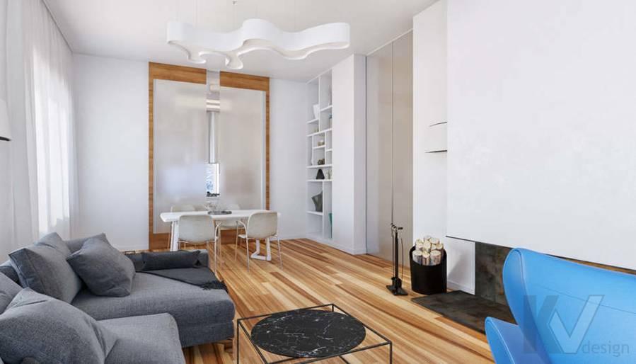 Дизайн гостиной в доме, КП Пестово - 5