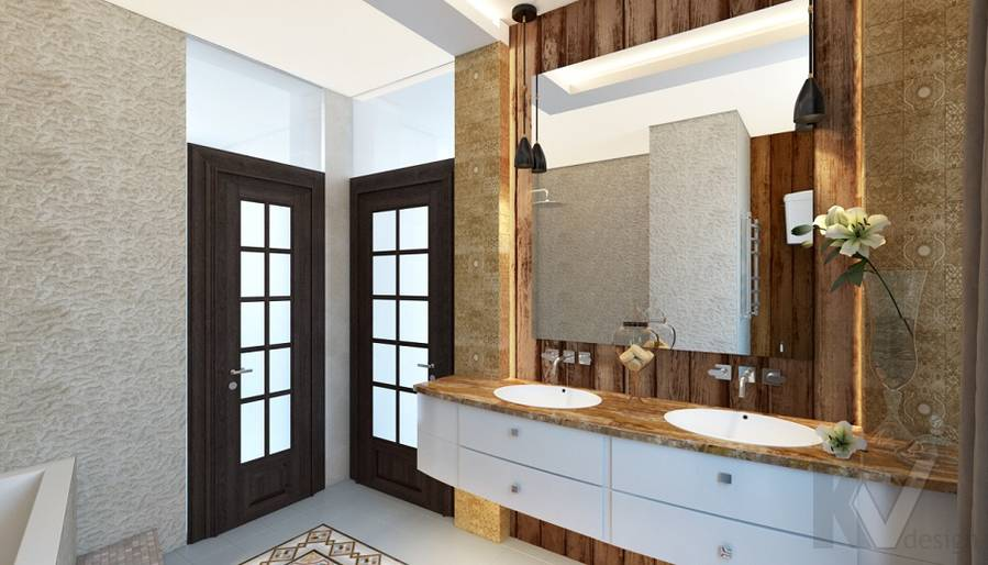 Дизайн ванной комнаты в трехэтажном доме - 5