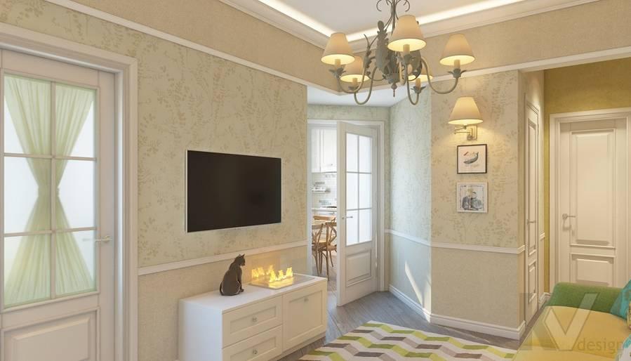 дизайн гостиной в 3-комнатной сталинке, ВДНХ - 3