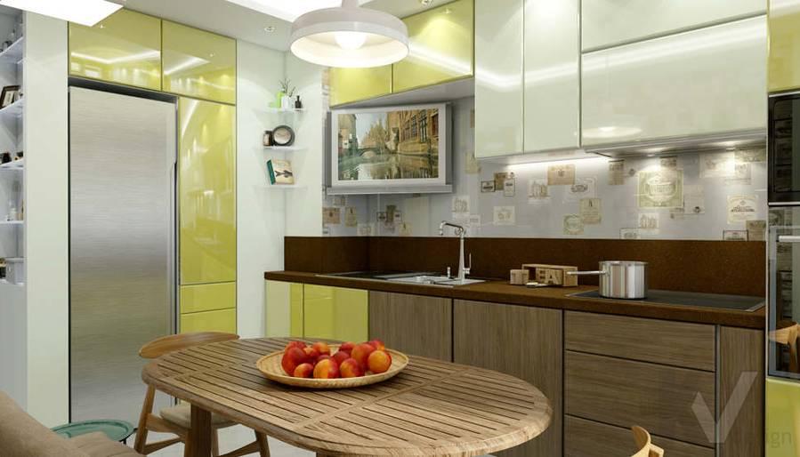 Дизайн кухни в 2-комнатной квартире - 2