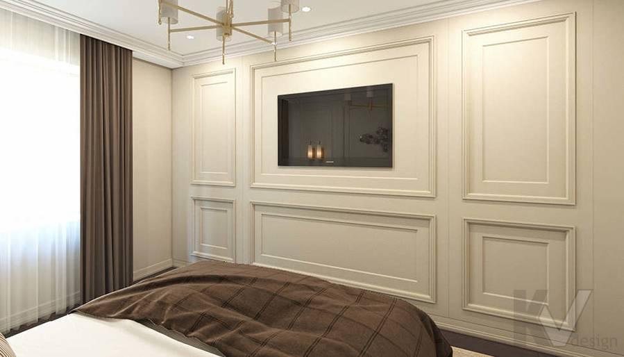 дизайн спальни в 3-комнатной квартире, Welton Park - 4