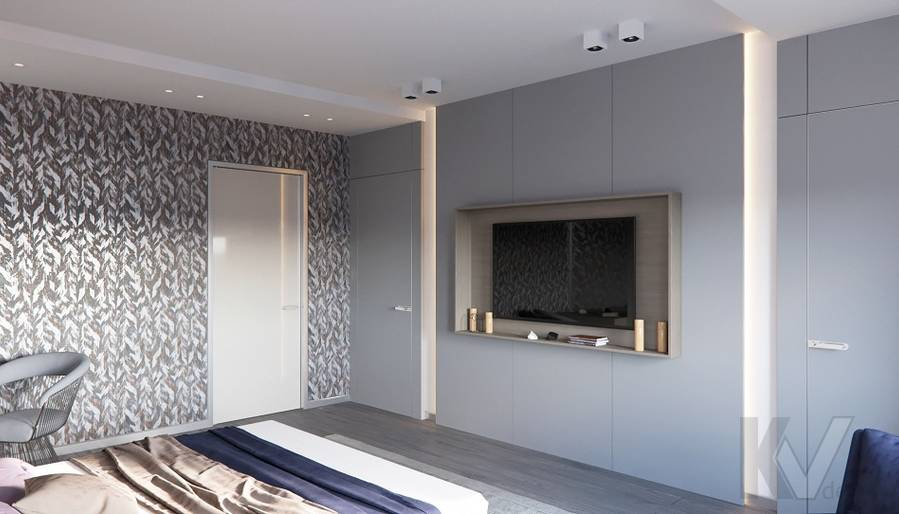 Спальня в доме в поселке Павлово - 3