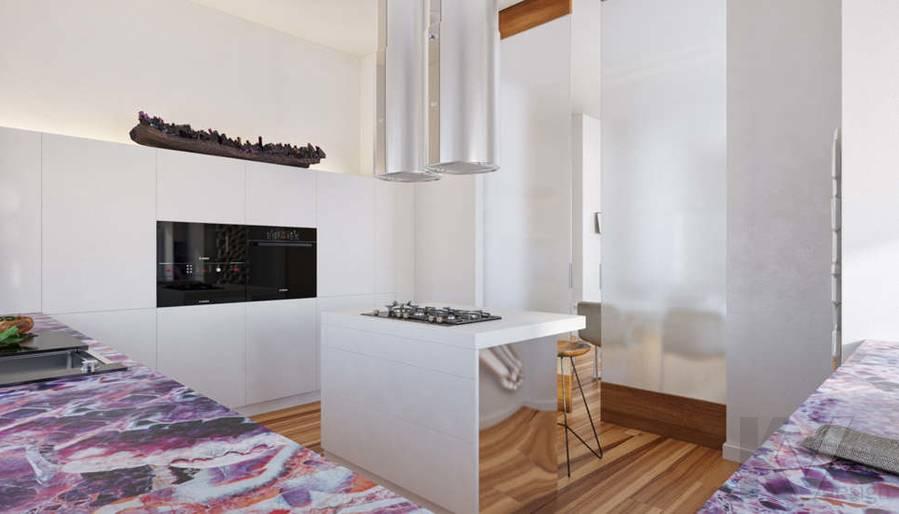 Дизайн кухни в доме, КП Пестово - 6