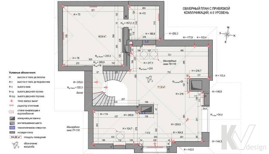 План третьего этажа загородного дома, Медвежьи Озера
