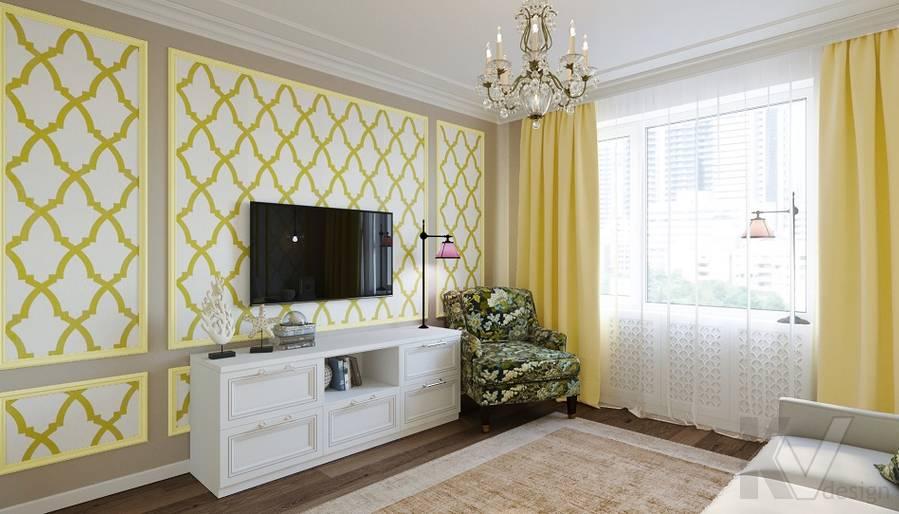 Дизайн гостевой комнаты в квартире на м. Смоленская - 2