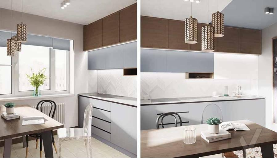 Дизайн кухни в квартире серии П-3М, Южное Бутово - 2