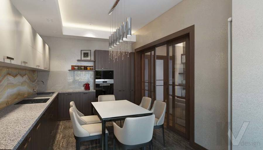 Дизайн кухни в двухкомнатной квартире, ЖК Розмарин - 3
