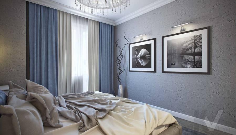 Дизайн спальни в 5-комнатной квартире, Климовск - 2