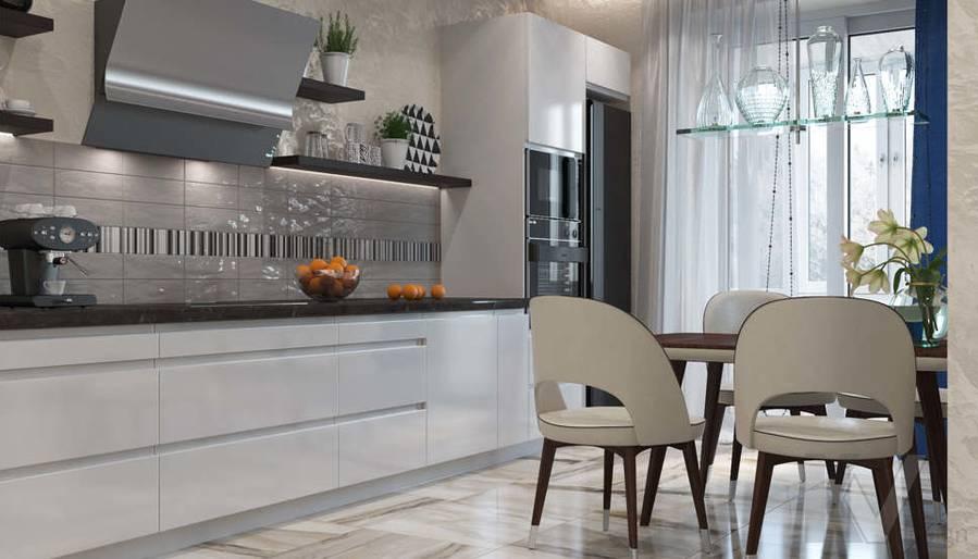 дизайн кухни в 3-комнатной квартире 100 кв.м., Реутов - 2