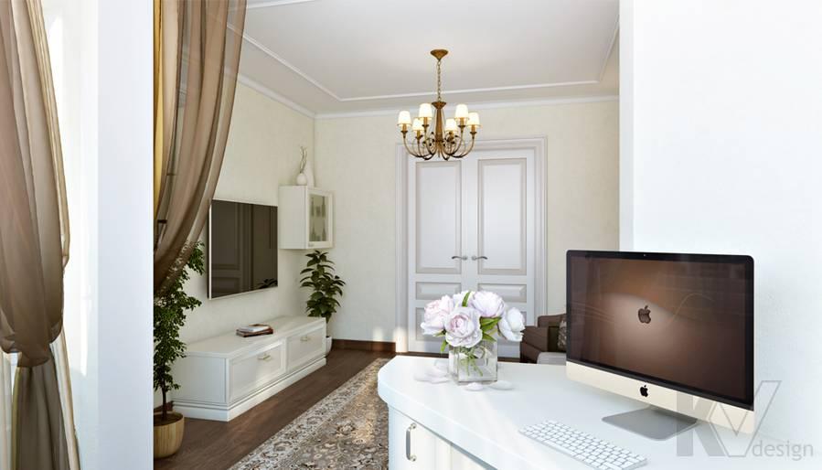 Гостиная в 3-комнатной квартире П-44Т, Люблино - 5