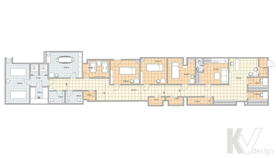 Дизайн СПА-салона в г. Чебоксары, планировка