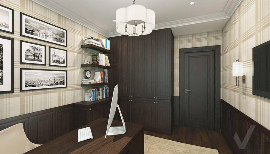 дизайн кабинета в 3-комнатной квартире, Welton Park - 3