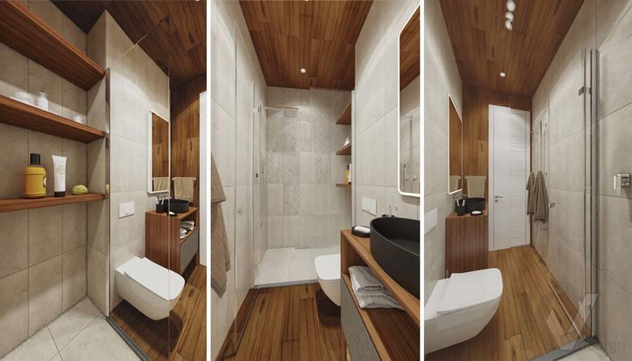 """Дизайн ванной при спальне,  КП """"Южная Долина"""""""