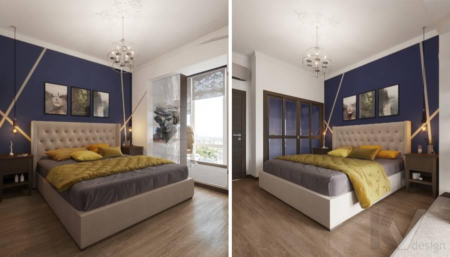 Дизайн спальни в ЖК «На Циолковского» - 3