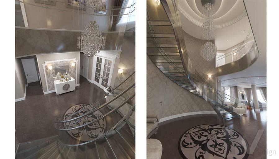Дизайн холла на 1-ом этаже в коттедже, КП Эдельвейс - 3