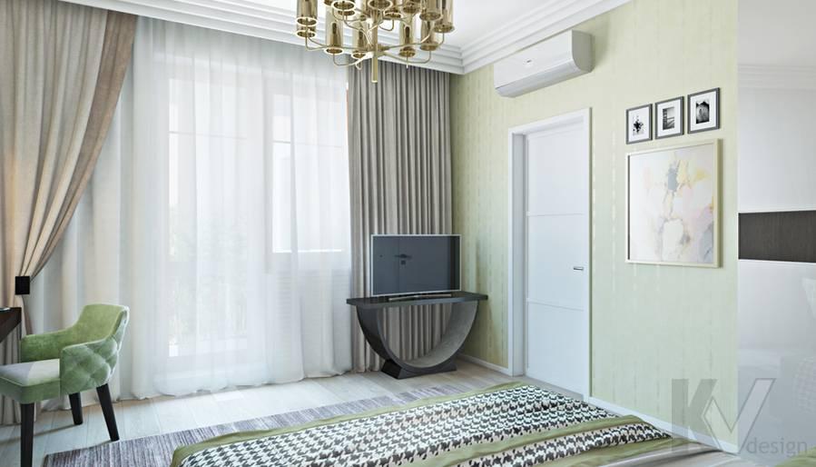 Спальня в двухкомнатной квартире, ЖК Виноградный - 3