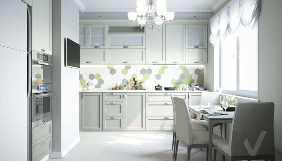 Дизайн кухни в квартире П-3М на Профсоюзной - 1