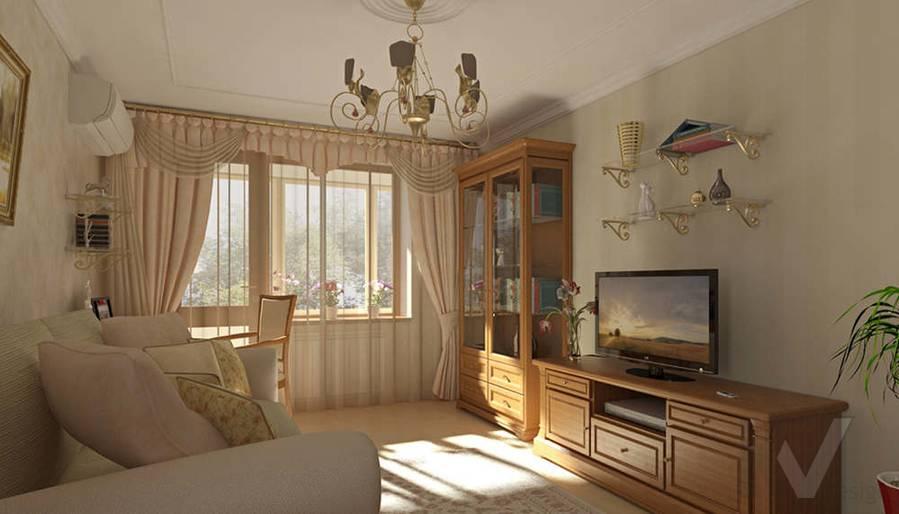 Дизайн квартиры на м. Речной вокзал, гостиная-1