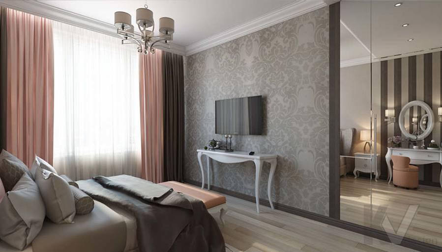 """Дизайн спальни в 2-комнатной квартире, ЖК """"Авеню 77"""" - 2"""