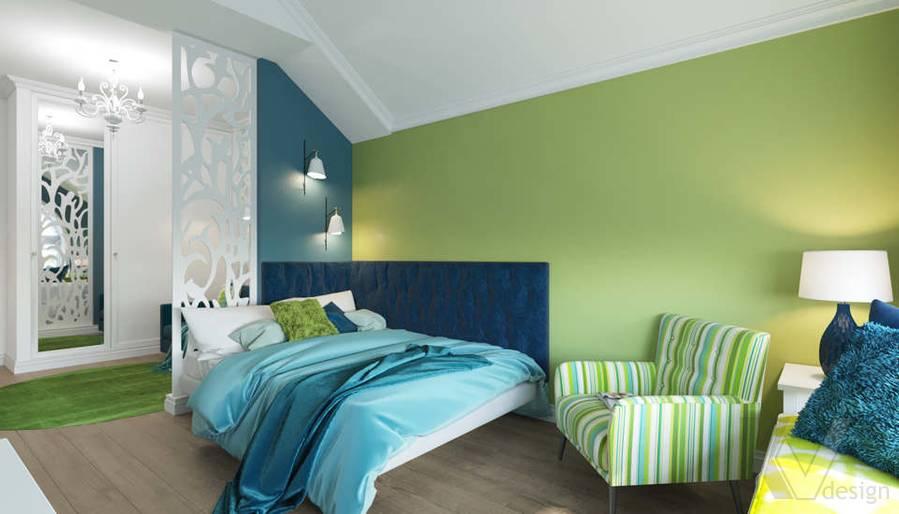 Дизайн спальни в коттедже, КП «Vita Verde» - 3