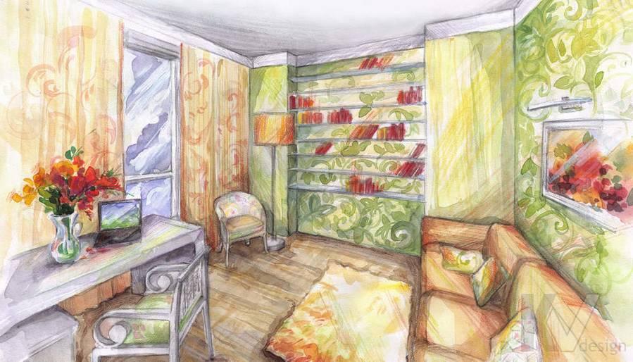 Дизайн трехкомнатной квартиры, ЖК Аэробус, детская