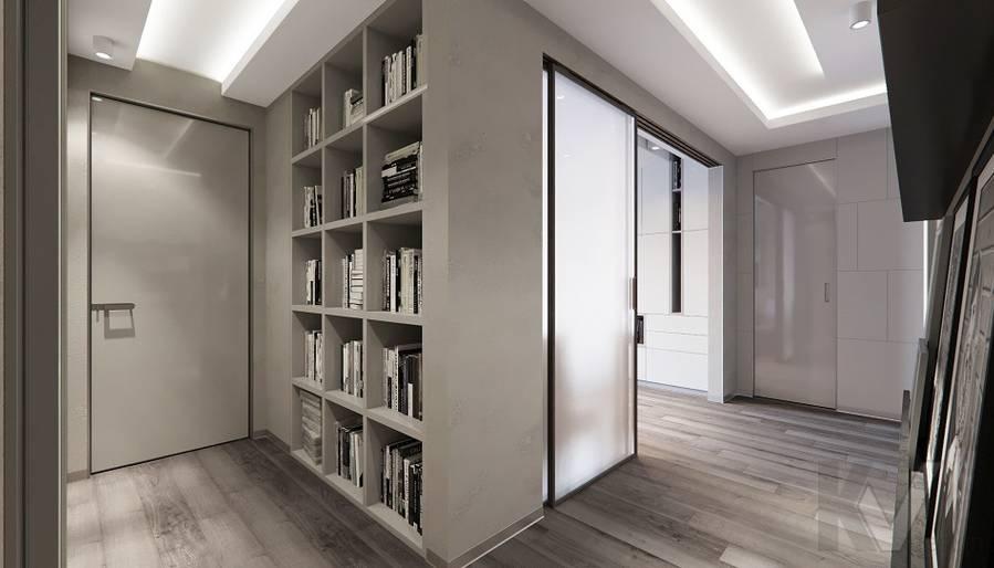 Прихожая в проекте объединения квартир, Мытищи - 3