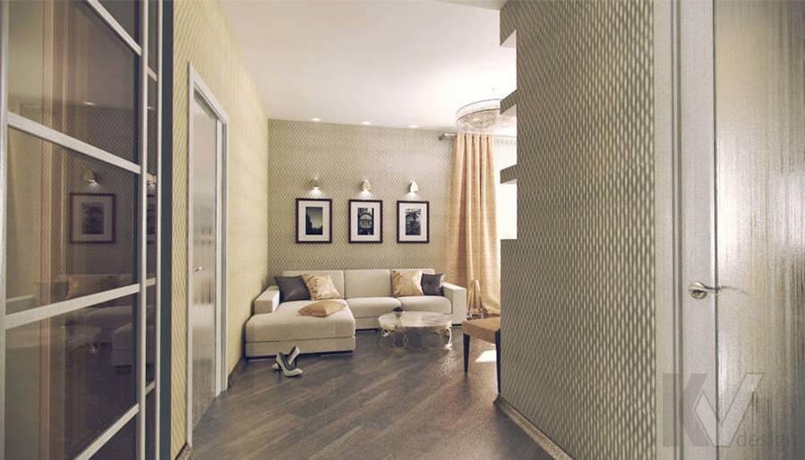 Дизайн квартиры на Старом Арбате, гостиная - 1