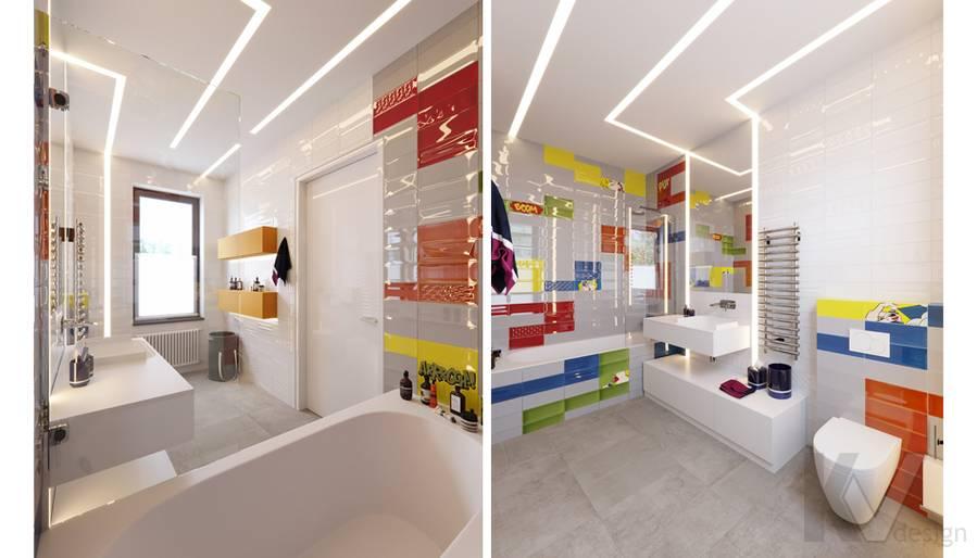 Детская ванная комната в доме в поселке Павлово - 4