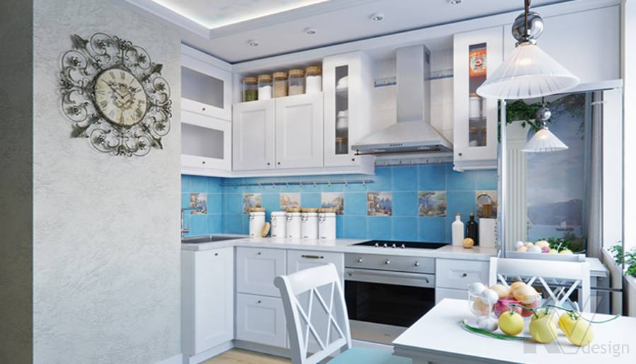 Дизайн кухни в квартире в Крылатском - 5