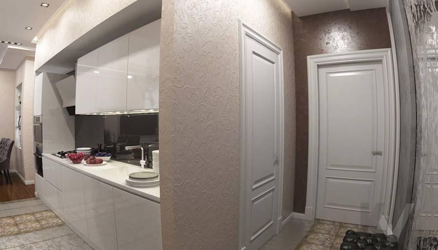 дизайн прихожей в 3-комнатной квартире в ЖК Лосиный Остров - 2