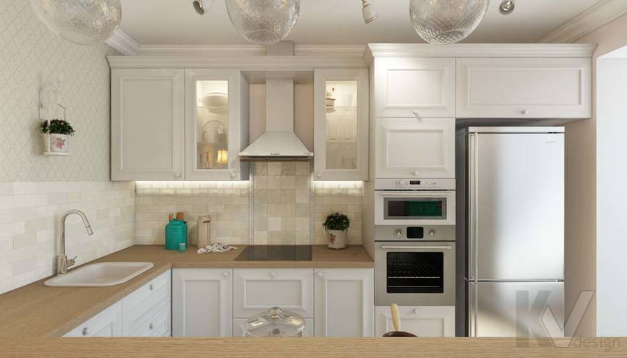 дизайн кухни в 3-комнатной квартире, Новая Москва - 1