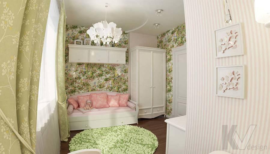 дизайн комнаты девочки в ЖК Лосиный Остров - 2