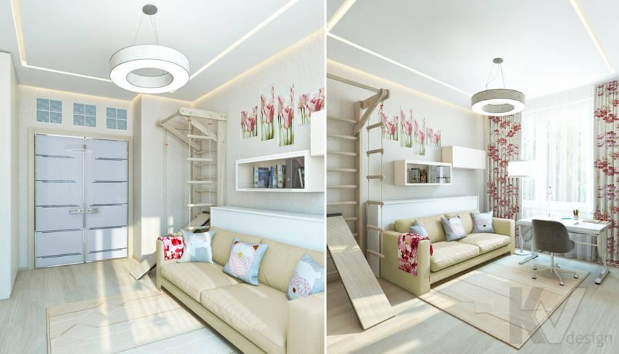 Дизайн детской девочки в квартире, ЖК Авеню-77 - 1