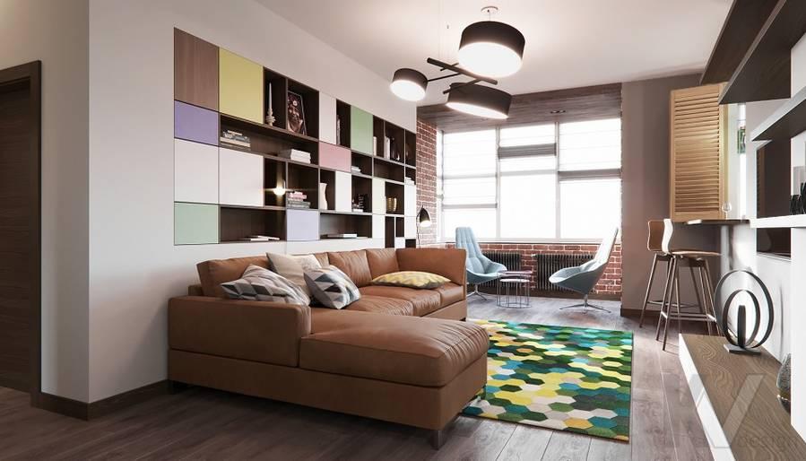Дизайн гостиной в ЖК «На Циолковского» - 3