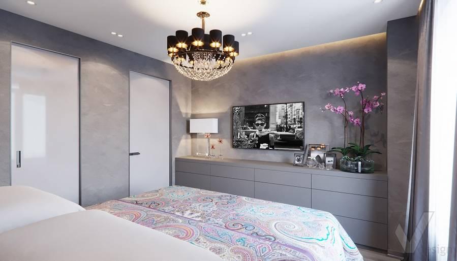 Спальня в проекте объединения квартир, Мытищи - 8
