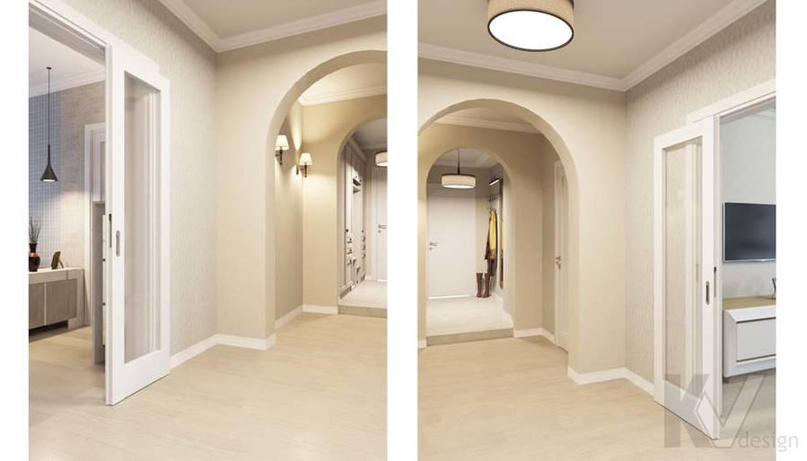 Дизайн прихожей в квартире П-3М на Профсоюзной - 2